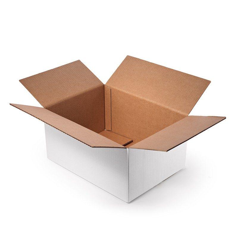 cajas de carton corrugado regular caja con solapas blanca